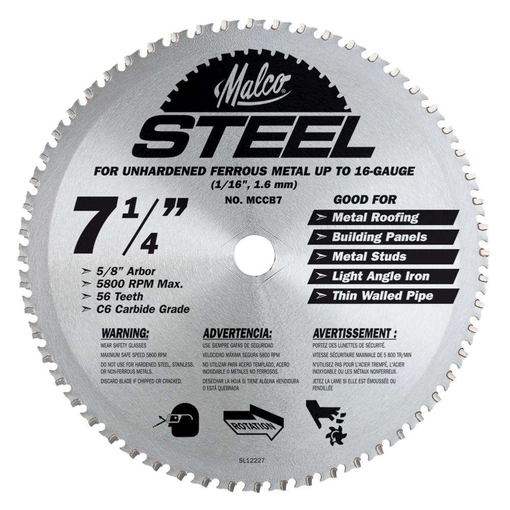 Malco Circular Saw Blade For Steel