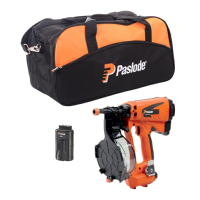 Paslode IM45 Coil Nail Gun c/w Tool Bag & Spare Battery
