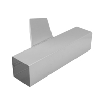 Stainless Pipe Y-Branch - Square