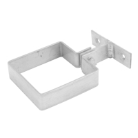 Stainless Pipe Bracket - Square