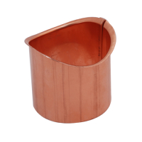 Copper Cup Outlet for Half Round Gutter