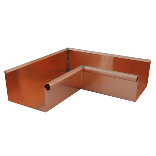 Copper Square Gutter Internal Corner
