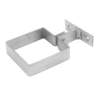 Zinc Pipe Bracket - Square Ring Type