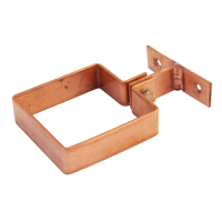 Copper Rainwater Pipe Bracket - Square Ring Type