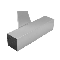 Zinc Pipe Y-Branch - Square