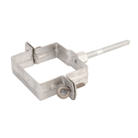 Zinc Pipe Bracket - Square